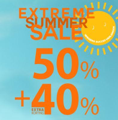 SALE -50% + 40% extra met code @ Jayno