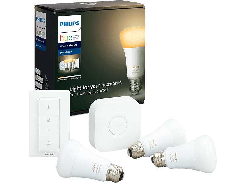 Philips Hue Bluetooth White Ambiance E27 Starterkit @ MediaMarkt