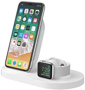 Belkin BOOST UP draadloos laadstation voor iPhone & Apple Watch, met USB-A-poort . Zwart of Wit