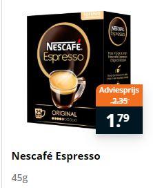 25 sticks Nescafé Espresso Oploskoffie (ideaal voor ijskoffie)
