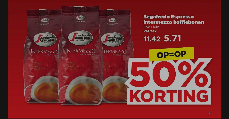 Plus supermarkt, Segafredo koffie actie 50%