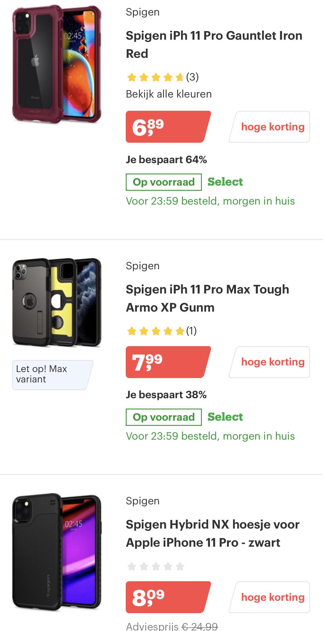 Iphone 11 pro & max SPIGEN hoesjes @ Bol.com