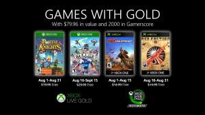 Games with Gold voor Xbox - Augustus 2020