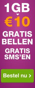 Onbeperkt Bellen & Sms'en + 1 GB voor 10 euro per maand @ Simpel