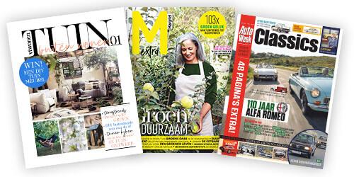 Gratis Tijdschrift vtwonen Tuin, Margriet Groen & Duurzaam of AutoWeek GTO