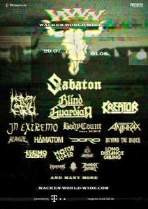 Wacken World Wide Gratis Festival van 29/07 t.e.m. 1/08/2020