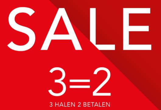 SALE: 3 halen = 2 betalen @ Hunkemöller