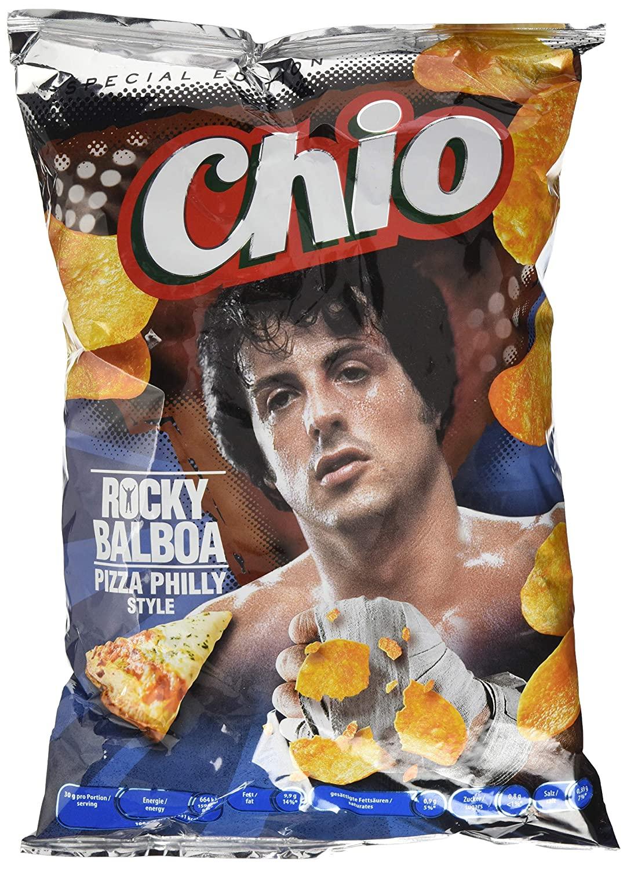 20 zakken Rocky Balboa pizza chips