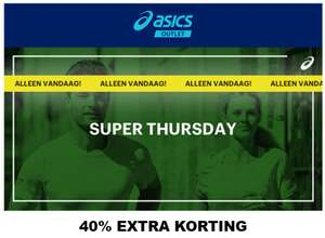 Vandaag: 40% extra korting @ Asics Outlet