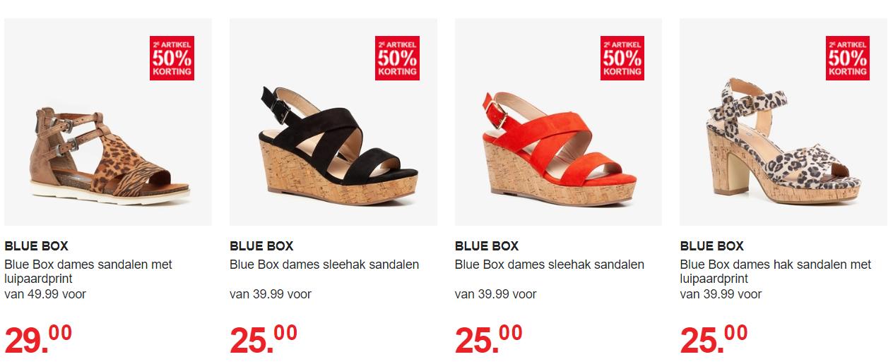 2e 50% korting op sale damessandalen bij Scapino