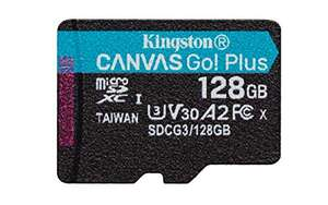 Kingston 128Gb Canvas Go Plus micro sd V30. 170MB/s read/90MB/s write @Amazon.de