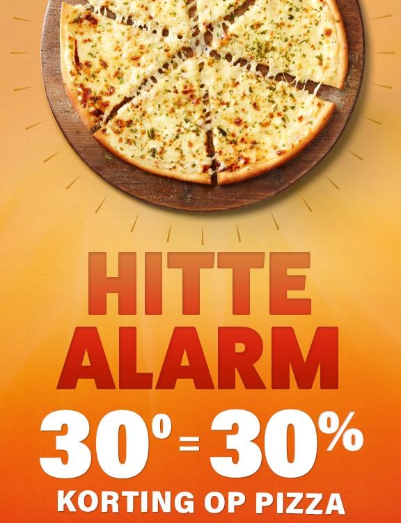 HITTE ALARM! 30% korting op pizza! Domino's