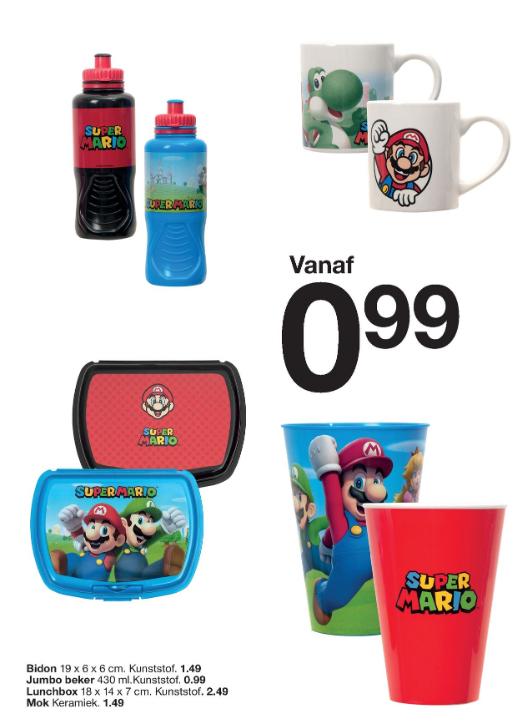 Super Mario artikelen goedkoop bij de Zeeman