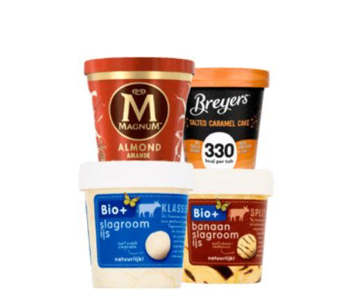 Alle Magnum Breyer of Bio+ Pints 1 + 1 gratis @Plus