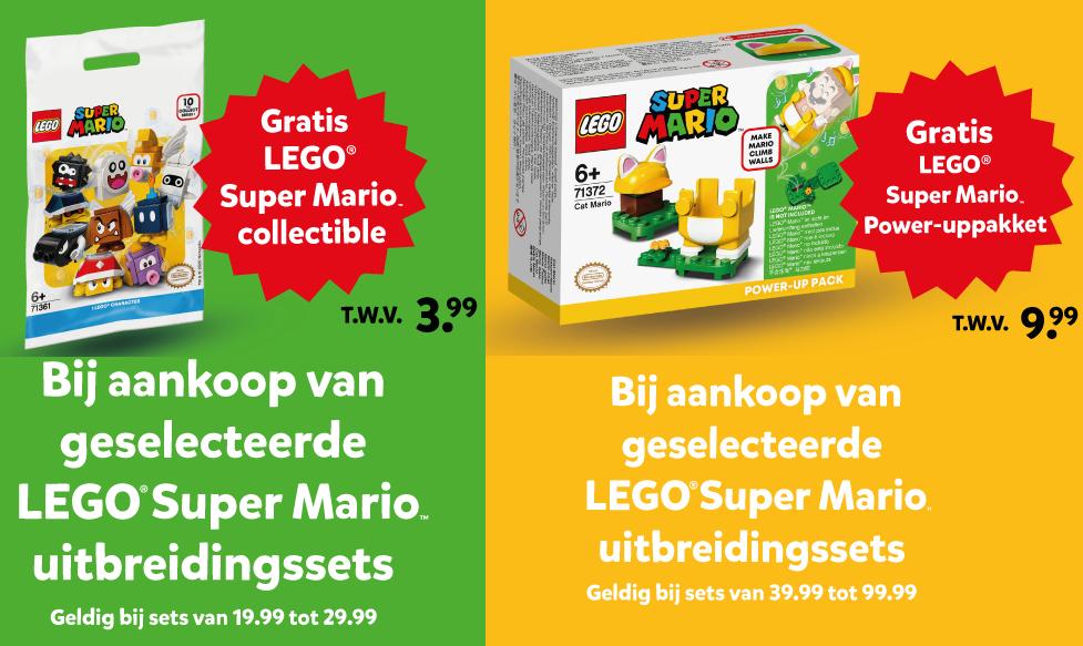 Lego Super Mario setje cadeau bij min. besteding uitbreidingssets @ Intertoys