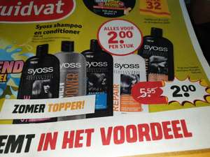 Syoss shampoo en conditioner €2 @Kruidvat