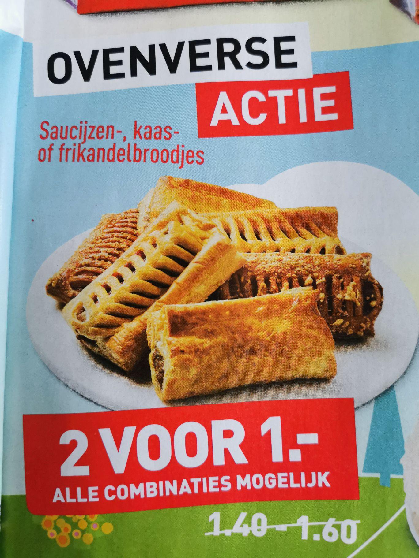 2 saucijzen-, kaas- of frikandelbroodjes voor 1 Euro @Aldi