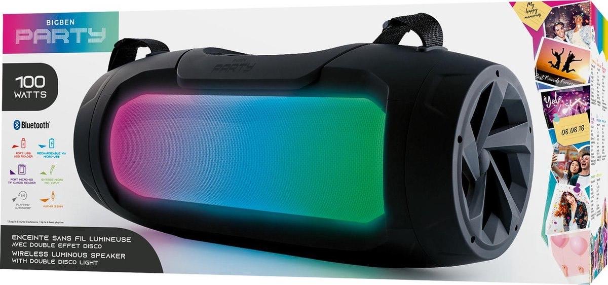 Bigben PARTYBTPROPLUS - Party Bluetooth Speaker met LED-verlichting - Zwart