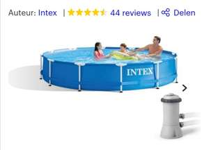 Outlet Intex zwembad	Ø: 3,66 incl filterpomp @ Bol.com