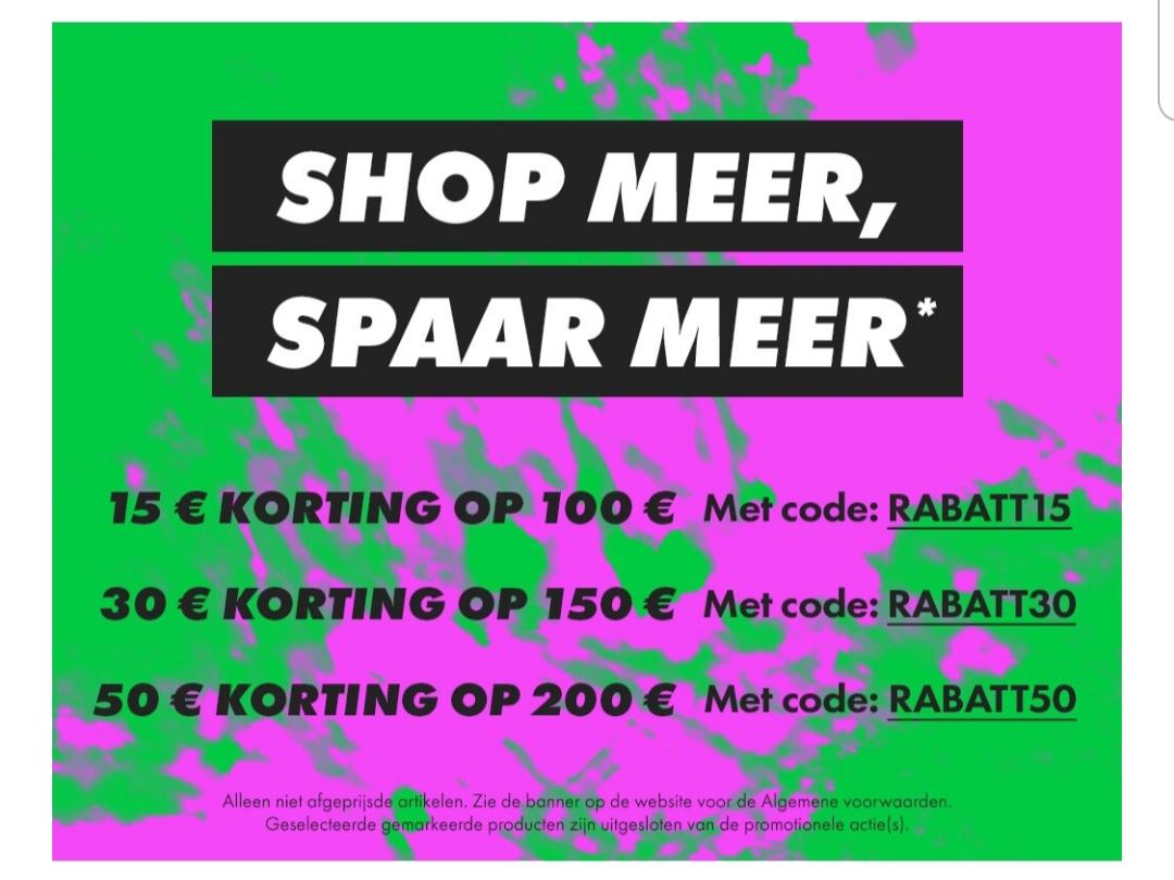 Actie: €15 // €30 // €50 [EXTRA] korting @ ASOS