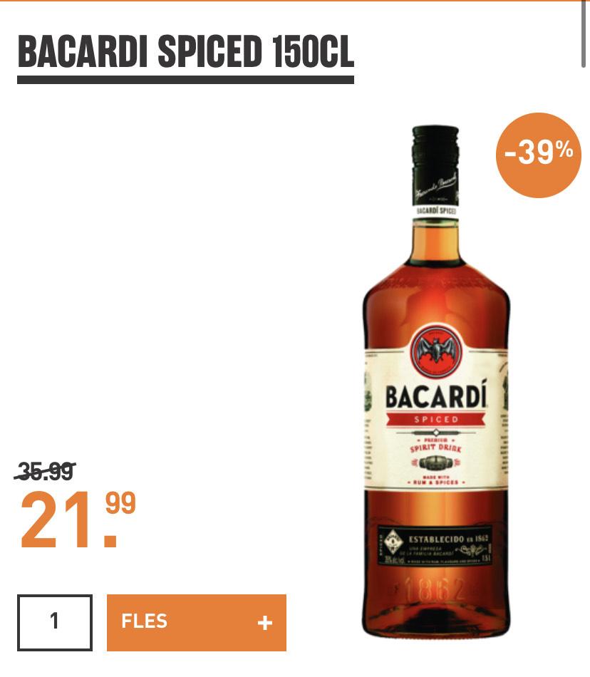 Bacardi Oalheart/Spiced 1,5L