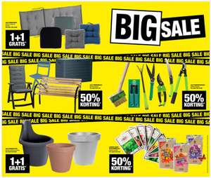 BIG sale: 50% korting // 1+1 gratis @ Big Bazar