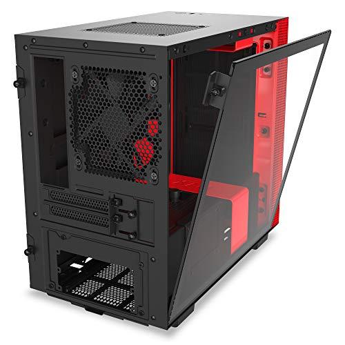 NZXT H210 (rood/zwart) Mini-ITX case