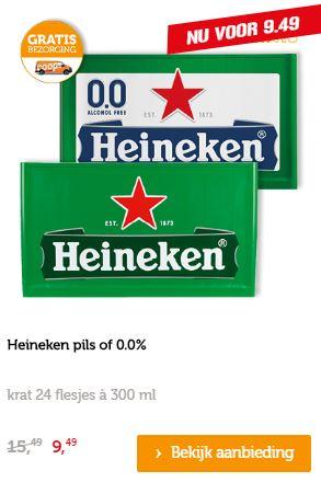 Krat Heineken pils of 0.0% @ Coöp (= €1,32 / liter)