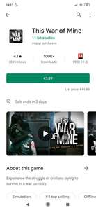[Android] This War of Mine @Google Play Store