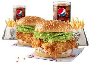 [KFC] 2x Double Crunch Meals (menu) voor € 6