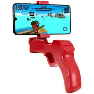 Battletron bluetooth gaming gun in blauw en rood