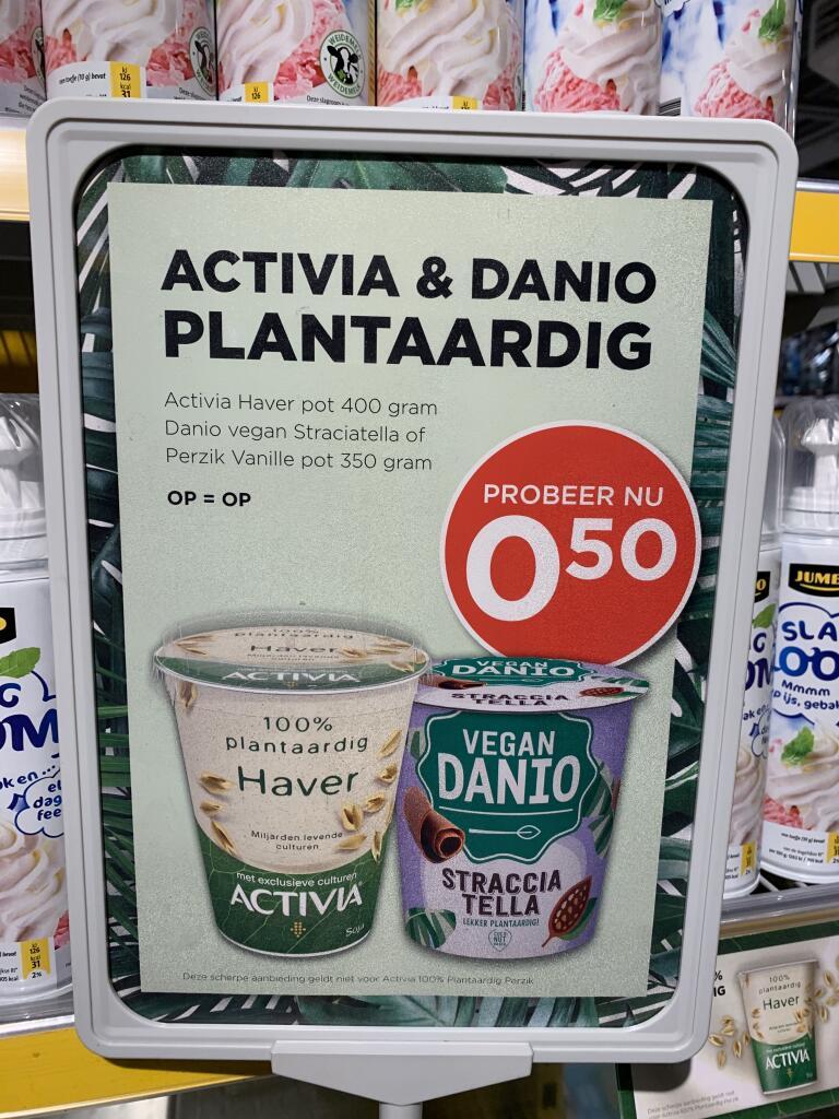 [Lokaal?] Danio Vegan Straciatella of Perzik voor €0,50