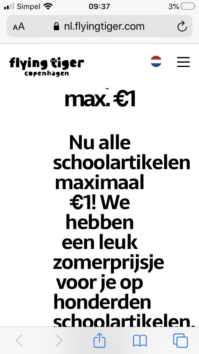Schoolspullen maximaal 1 euro
