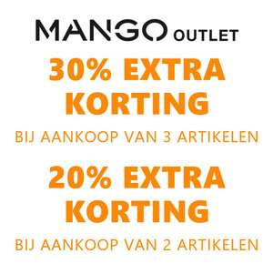20% - 30% EXTRA korting @ Mango Outlet