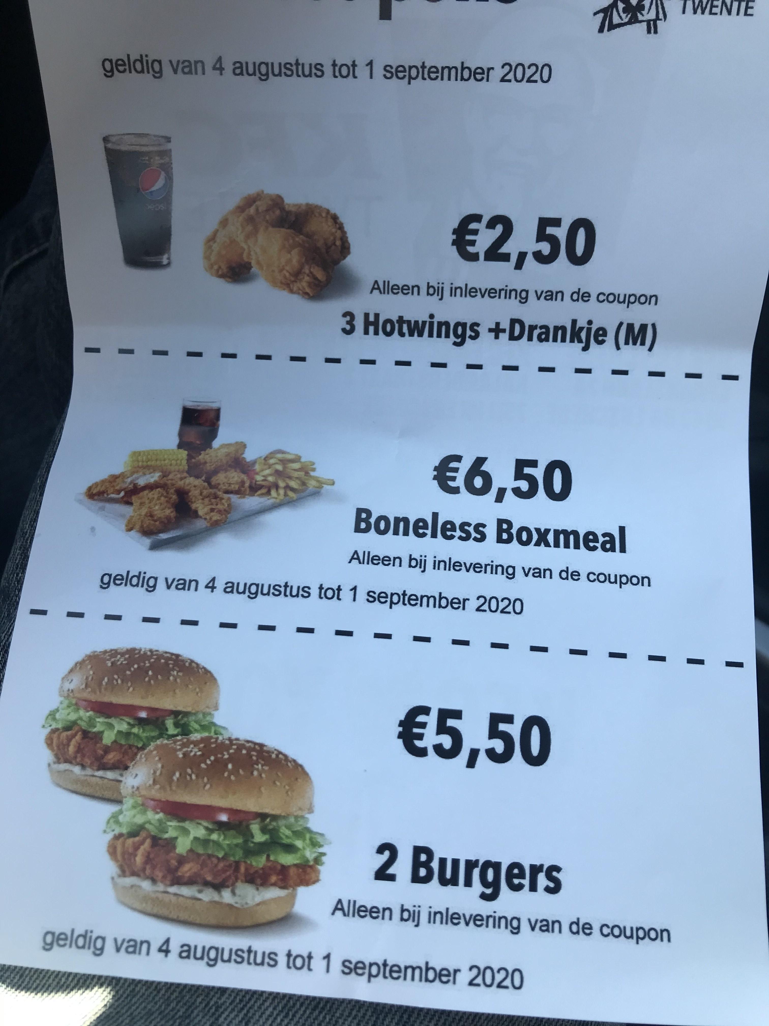 Twee burgers naar keuze voor €4,70 bij KFC (prijsfout) (op aanbieding)