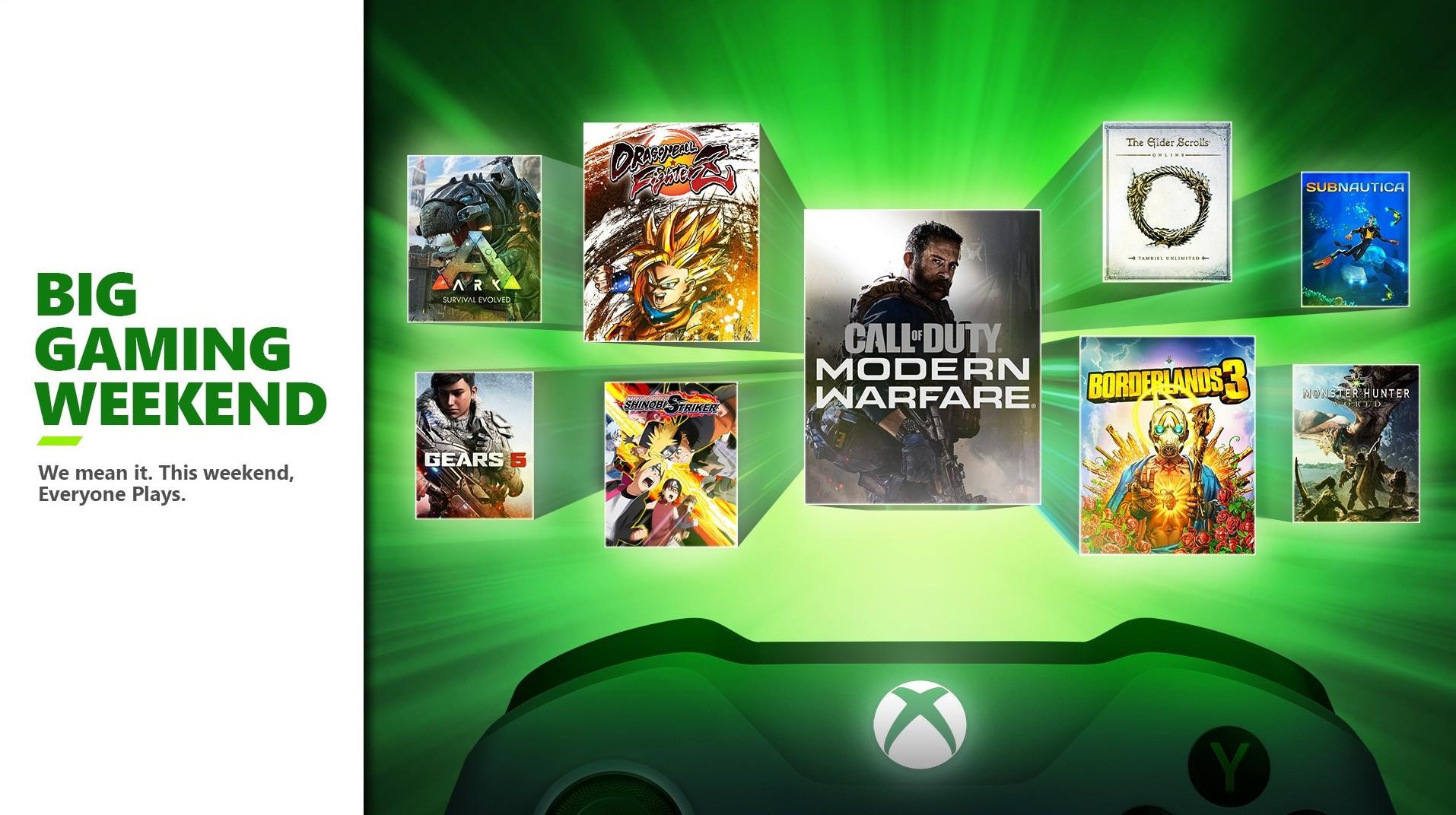 Big gaming weekend: Veel games gratis speelbaar + geen xbox live gold nodig