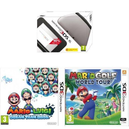 [UPDATE] Nintendo 3DS XL + Mario and Luigi: Dream Team Bros. + Mario Golf: World Tour voor €144,07 @ Amazon.co.uk