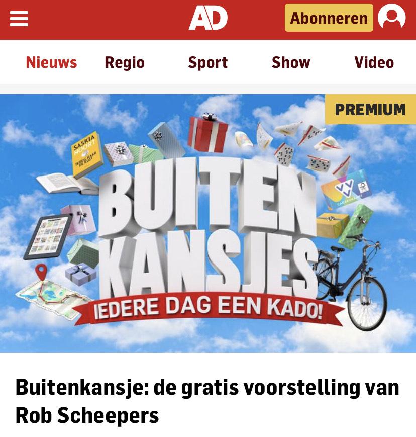[GRATIS] voorstelling Rob Scheepers via AD.NL