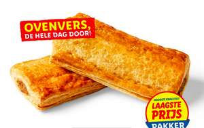 Saucijzenbroodjes 2 stuks bij Lidl nu 1 euro