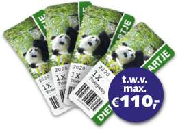 4 dierentuin kaartjes 14 euro BankGiro Loterij