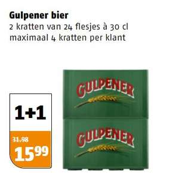 Krat Gulpener 1 + 1 gratis @Poiesz
