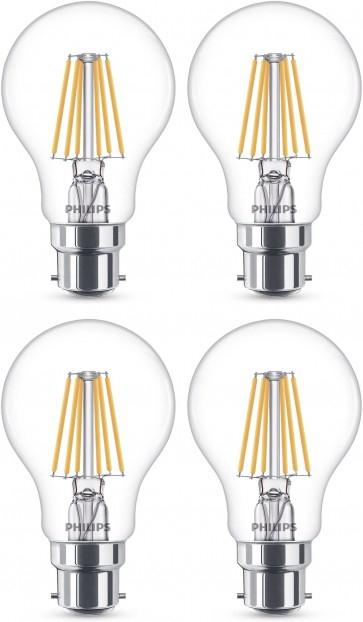 Dagknaller: 4 pack Philips 5,5W (40 W) Warm glow dimbare lamp