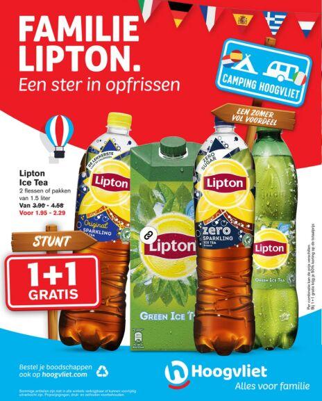 Lipton Ice Tea 4 x 1,5l voor €3 @Hoogvliet