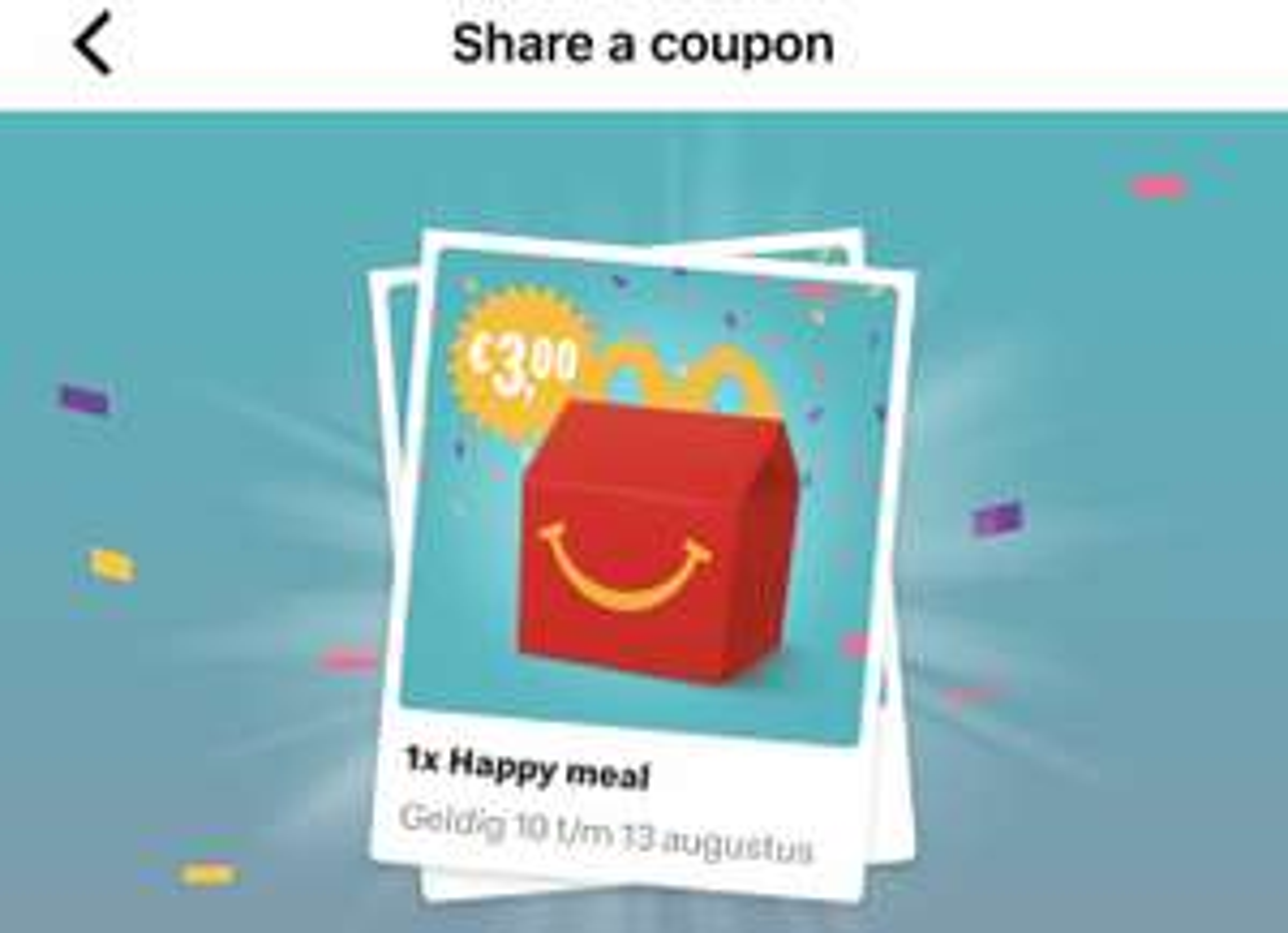 Een happy meal voor €3,00 @Mcdonald's