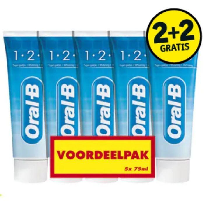 Oral-B 1-2-3 Tandpasta | 20 stuks voor €10 = €0,50 per tube @Kruidvat