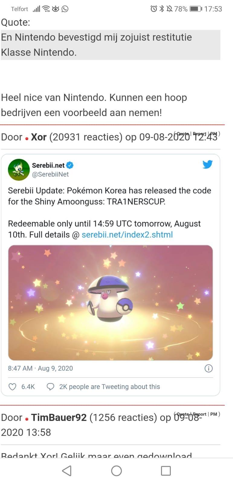 Gratis shiny Pokémon voor Sword / Shield