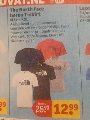 The North Face heren t shirt €12,99 @ Kruidvat