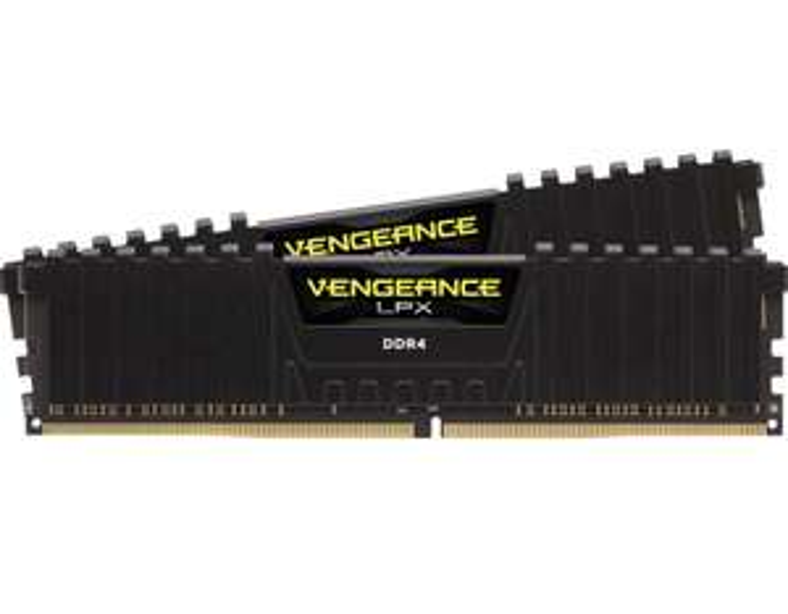 Corsair CMK16GX4M2B3200C16 Werkgeheugen Vengeance LPX, 16GB/2 x 8GB, DDR4, 3200Mhz, C16 XMP, Zwart