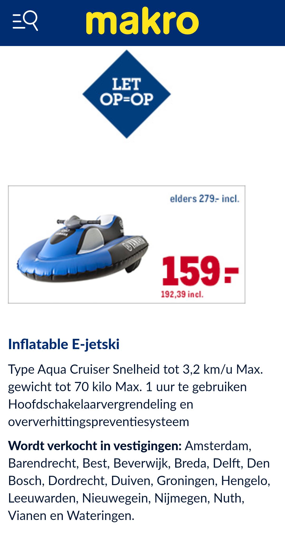 Inflatable E-jetski