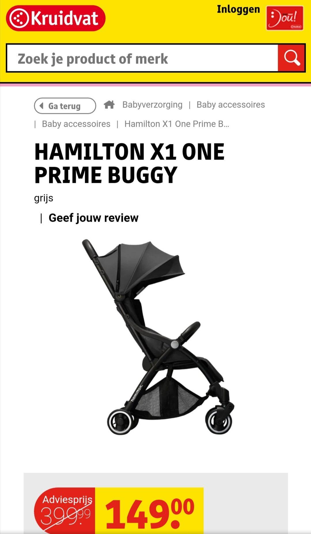(kruidvat) Hamilton X1 One Prime Buggy